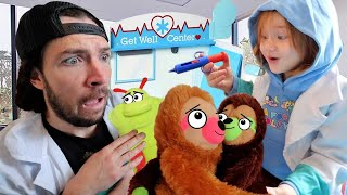 Animal Doctor Adley!! ZOO CHECK UP! Pet clinic routine visit, Unicorn Baby, Sticker Pox play pretend