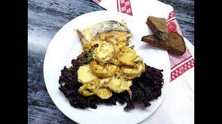 Горбуша запечённая с картофелем в духовке