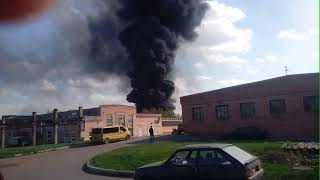 Пожар на Химпоселке в Черкассах