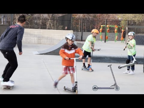 MOMS LET THEIR SCOOTER KIDS RUIN THE SKATE PARK | Garrett Ginner
