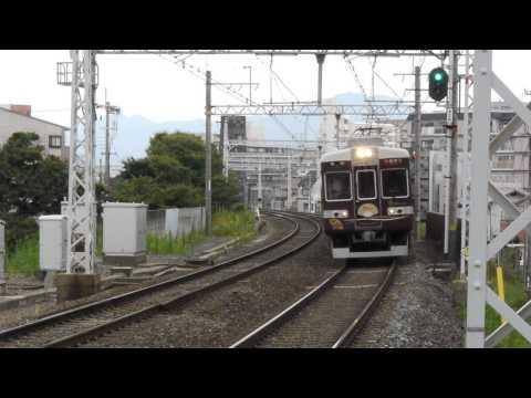阪急電鉄 6300系 6354F 京とれいん  快速特急 梅田行き 西京極駅にて
