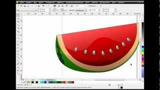 Как нарисовать арбуз в CorelDRAW(В данном видео уроке показывается, как нарисовать арбуз, используя новый инструмент Corel Draw X6 -- «Мастихин»...., 2012-09-24T22:06:47.000Z)