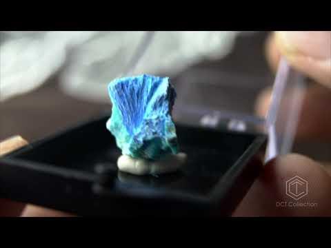 絨銅礬藍絨銅礦 Cyanotrichite[ DCT Collection ]