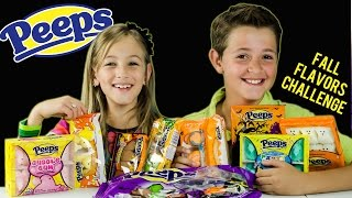 PEEPS CHALLENGE WITH NEW LIMITED EDITION HALLOWEEN & FALL FLAVORS! PEEPS TASTE TEST | PLP TV
