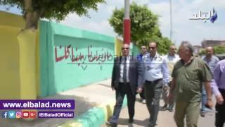 بالفيديو والصور.. محافظ البحيرة يتفقد أعمال 'حلوة يا بلدي' بالطريق الزراعي