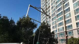 아파트 베란다 샷시공사  창호운반 작업 #부산창호인테리…