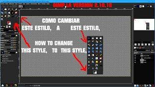 Gimp 2 10 18 Vl 2020 Como Cambiar Caja De Herramienta Youtube