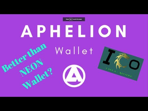 Aphelion Crypto Wallet Review (Better than NEON Wallet)