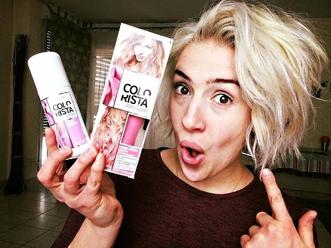 Cheveux Rose Avec Colorista De L Or 233 Al Youtube