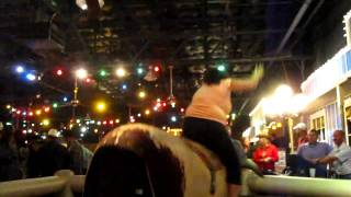 Linda rides the bull