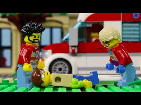 LEGO City Hospital Fail STOP MOTION LEGO City: Billy Get's Inured! | LEGO City | Billy Bricks