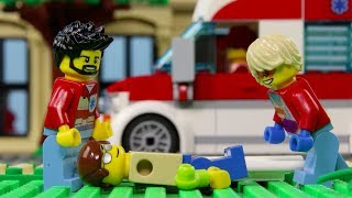 LEGO City Hospital Fail STOP MOTION LEGO City: Billy Get's Inured! | LEGO City | Billy Bricks