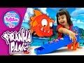 Piranha Panic Game Fish-Flippen' Frantic Action Escape The Jaws Of The Piranhas | HappyMilaTV #313