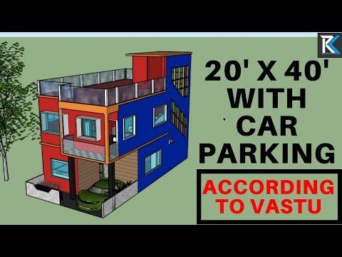 20' X 40' house design plan according to Vastu || RK Survey & Design