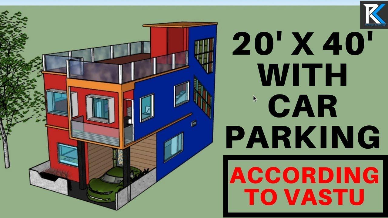 #1 20' X 40' house design plan according to Vastu || RK ...