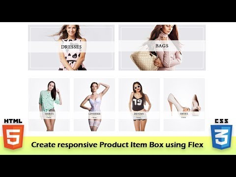 Create Responsive Item Box (Product)  Section Using Flex In Html & Css || UI Dev