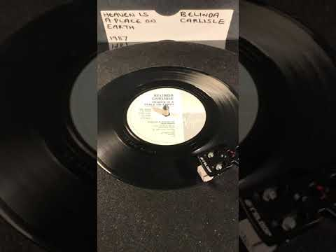Belinda Carlisle - Heaven Is A Place On Earth ( Vinyl 45 ) From 1987 .