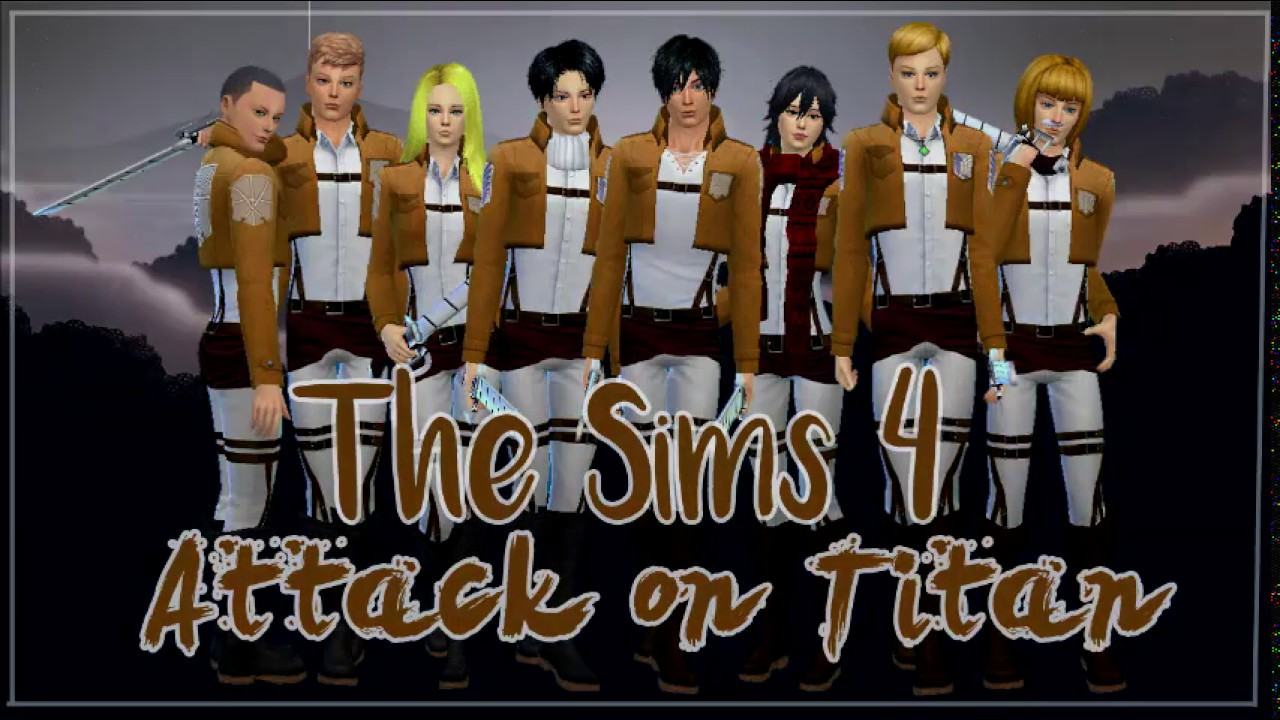 Sims 4 Anime Characters : The sims create a sim anime character attack on