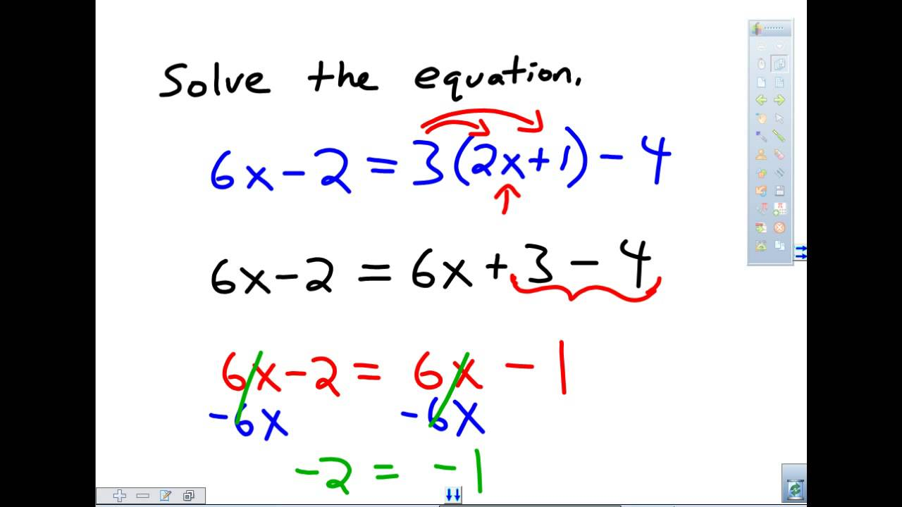 Example Of An Inconsistent Equation Youtube