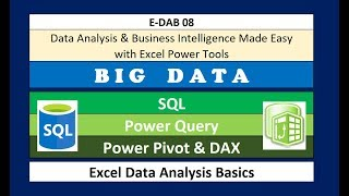 E-DAB-08: Power Pivot: Big Data, Data Modeling, DAX & Dashboards