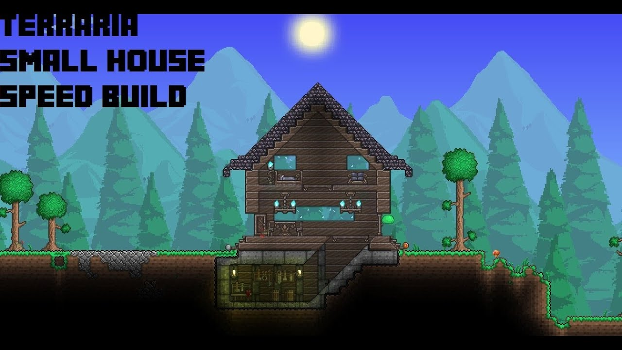 terraria boreal small house (speed build) - youtube