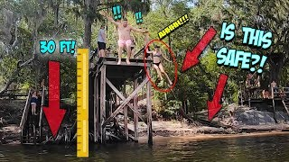 EXTREME 30 FT JUMP INTO DEEP DARK WATERS!!