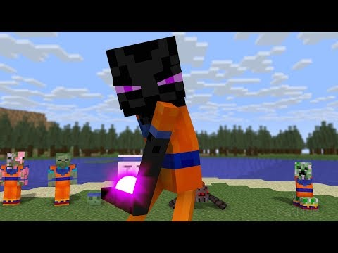 Monster School : Dragon Ball Challenge - Kamehameha - Minecraft Animation