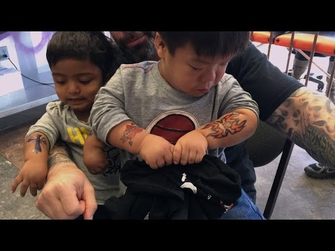 Tattoos While Mom Is Away | The Little Couple
