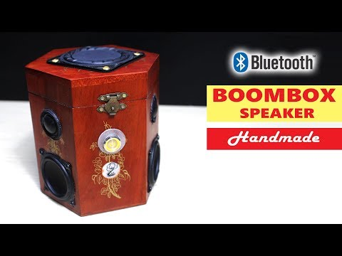 Building Wooden Boombox Bluetooth Speaker with Tea Box