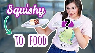 Turning My Squishy into FOOD | Bake With ME #1