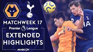 Wolves v. Tottenham | PREMIER LEAGUE HIGHLIGHTS | 12/15/19 | NBC Sports