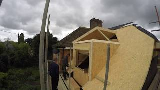 TP Building a SIPs Dormer & Home extension - Time lapse