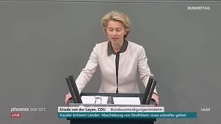 Rede von Ursula von der Leyen zum Etat für Verteidigung am 12.09.18