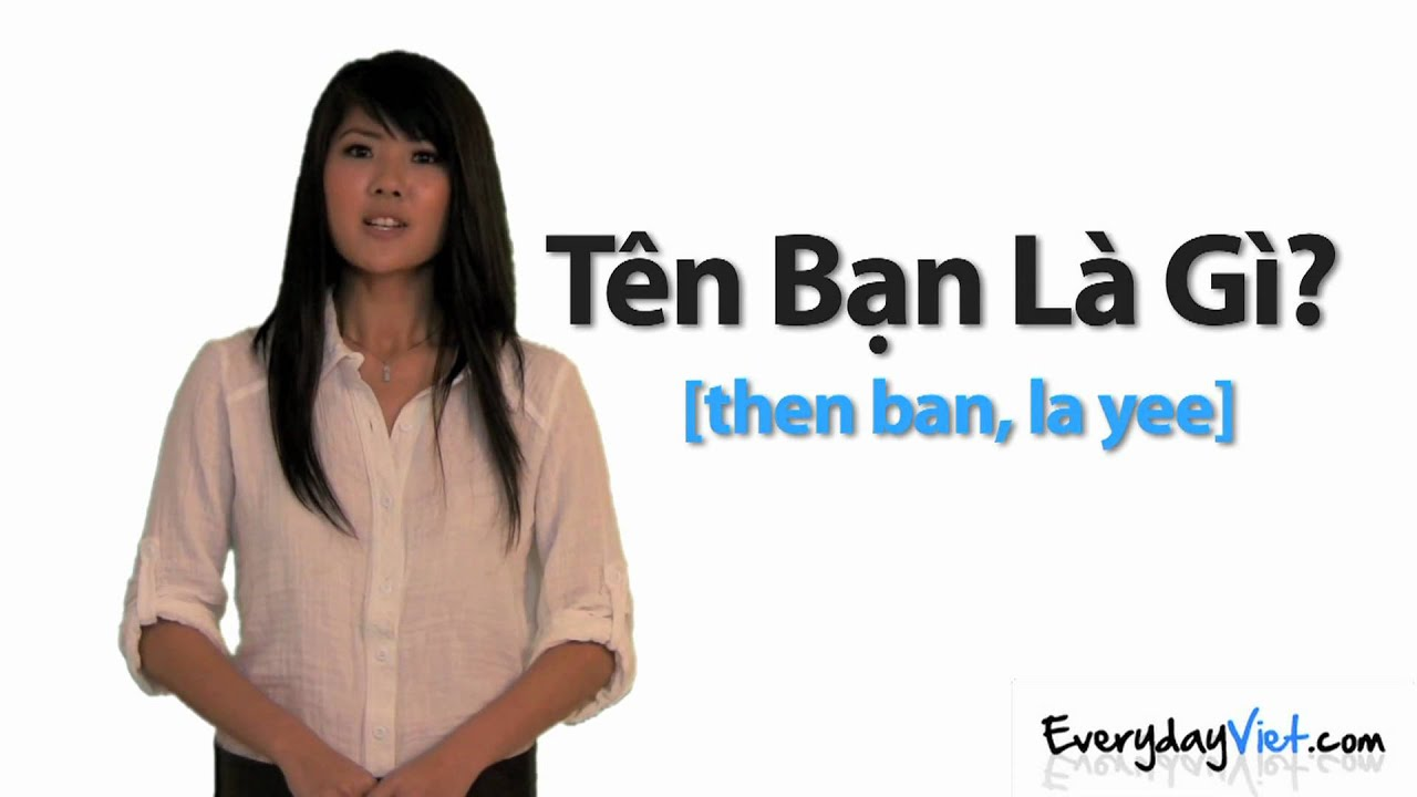 Learn Vietnamese Lesson 3 Hello How Are You My Name Is And What