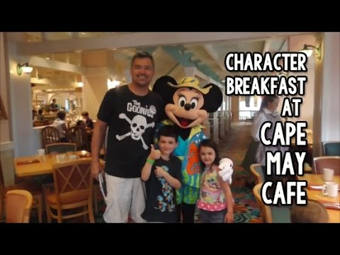 Cape May Cafe Character Dining - Minnie's Beach Bash ...
