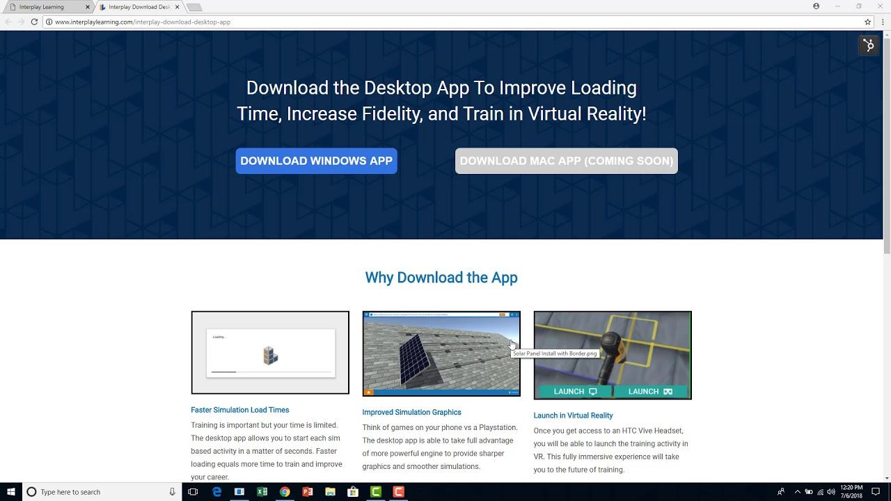 Download the Interplay Training Desktop App