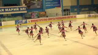 Чемпионат России по синхронному катанию  KMC  КП 8 Метеорит ЧЕЛ