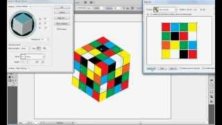 3D Rubik's Cube tutorial in illustrator....