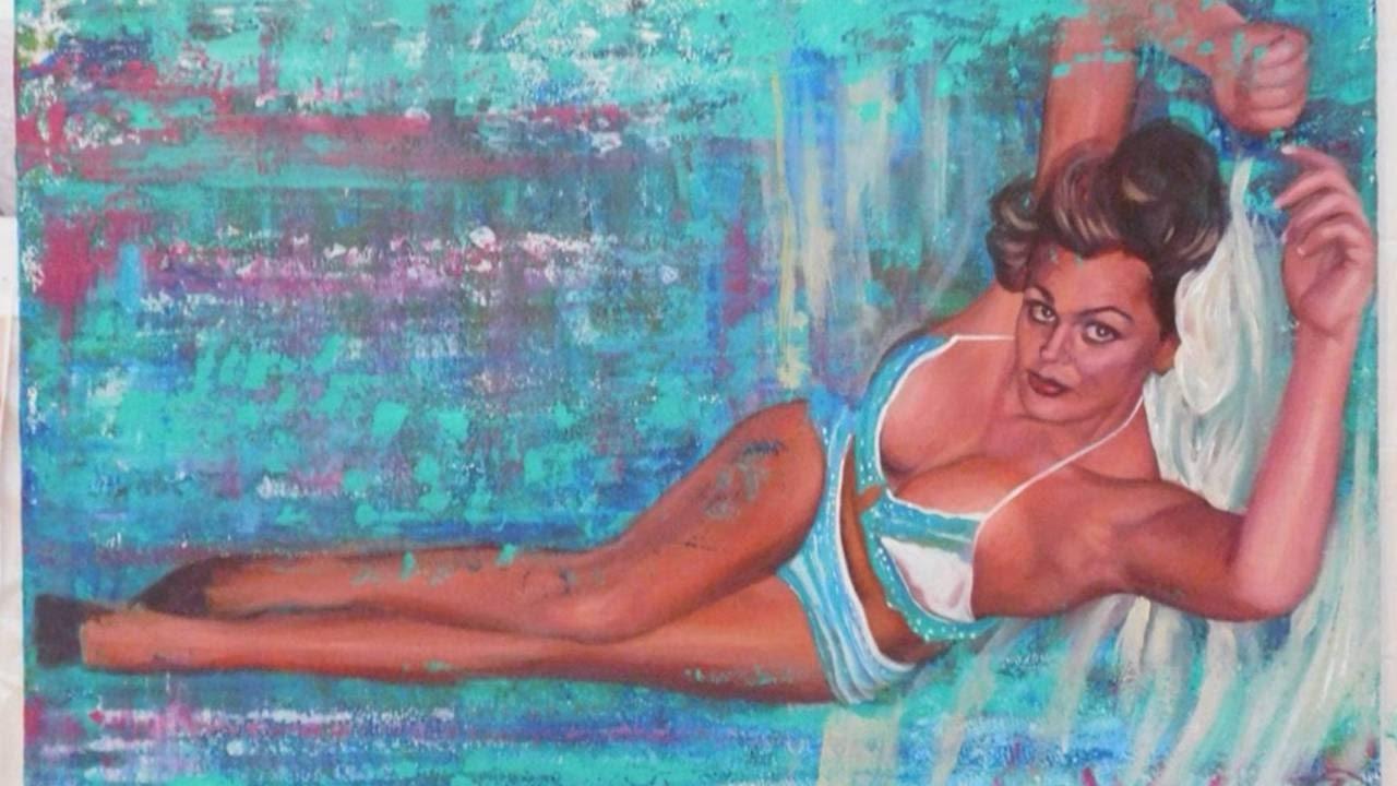 Full Figure Custom Painting Of A Woman