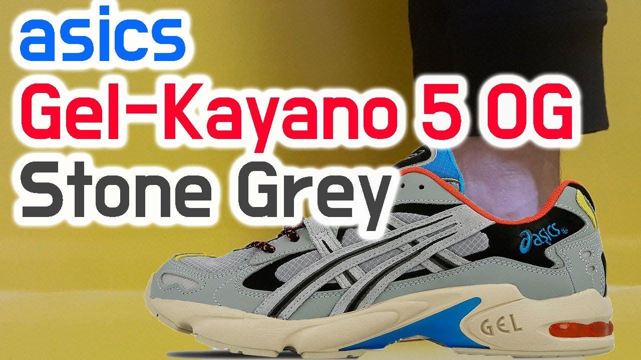 asics gel kayano 5 og stone grey