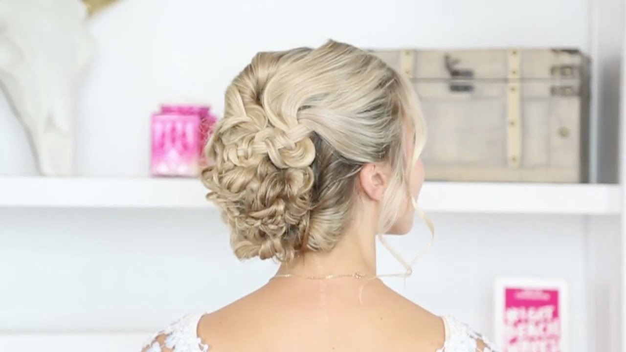 Tutorial: Braided Updo and Beach Waves - YouTube