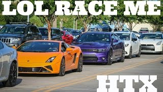 Hard Accelerations Leaving Houston Cars & Coffee July 2016