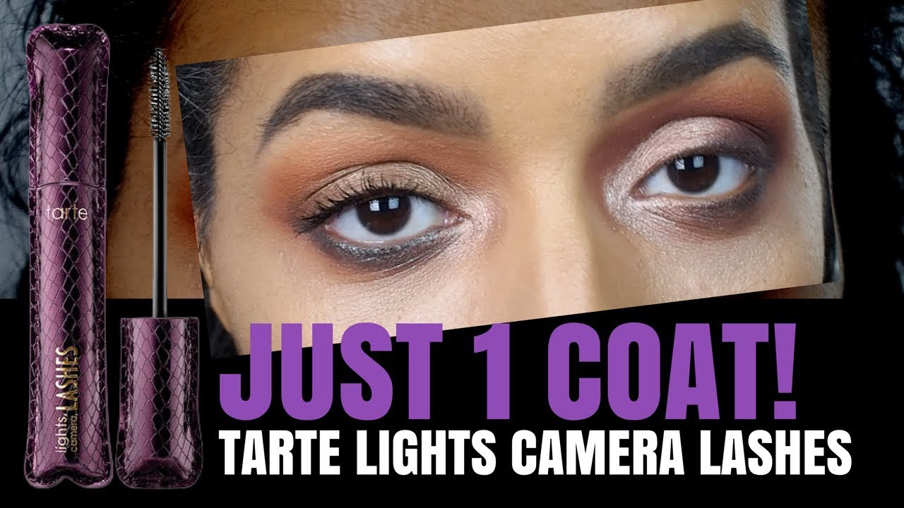 Tarte Lights Camera, Lashes 4 In 1 Mascara DEMO U0026 Review From IPSY BAG   NO  Flaking NO Racoon Eyes
