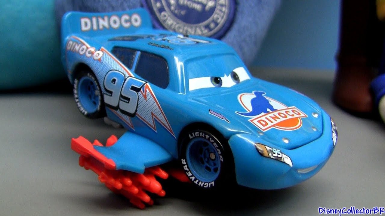 Storm Lightning Mcqueen blue Dinoco from Disney Cars Pixar figure ...