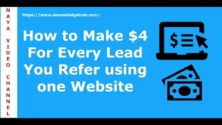 How to Make $4 for every Signup using CPA affiliate program