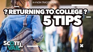 5 Tips for Adults Thinking About Returning to College