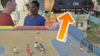 What happens if alex hunter & danny williams lose the 3v3 game vs. little kids? fifa 18 the journey