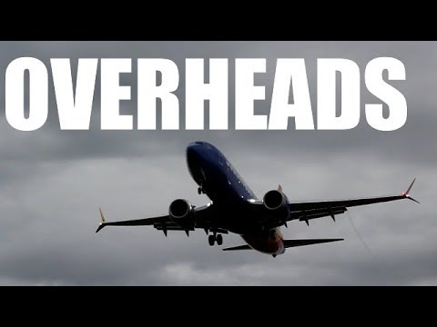 5 minutes of EXCITING OVERHEAD approaches at Albany airport!