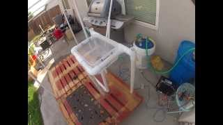 My Burning Man 2013 Shower Project. Complete With Water Heater And Shower Head. 2
