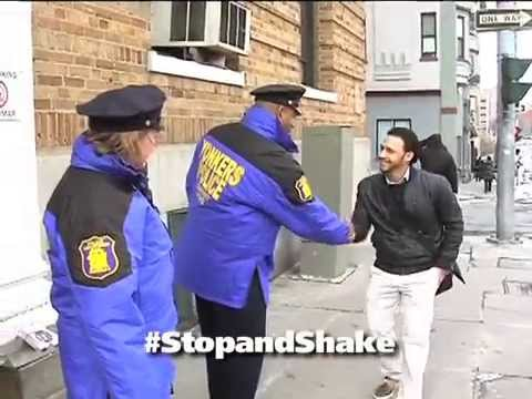 Stop & Shake is a community/police initiative created by community organizer Hector Santiago that simply encourages members of the community and police officers to get to know each other by simply greeting each other with a handshake.